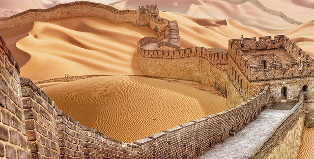 Great Wall of China, China, after severe drought. (Photo by Joel Krebs/Caters News)