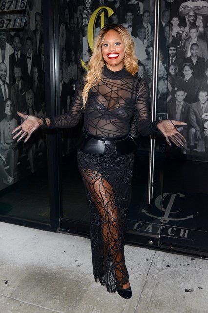 Laverne Cox at Catch in West Hollywood on December 23, 2018. (Photo by Splash News and Pictures)
