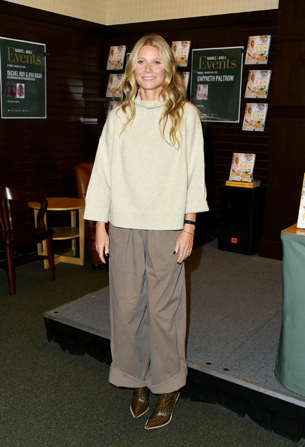 """Gwyneth Paltrow attends Gwyneth Paltrow's new book signing for """"The Clean Plate"""" at Barnes & Noble at The Grove on January 14, 2019 in Los Angeles, California. (Photo by Jon Kopaloff/Getty Images)"""