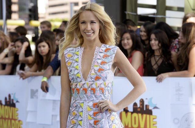 Actress Anna Camp arrives at the 2015 MTV Movie Awards in Los Angeles, California April 12, 2015. (Photo by Phil McCarten/Reuters)
