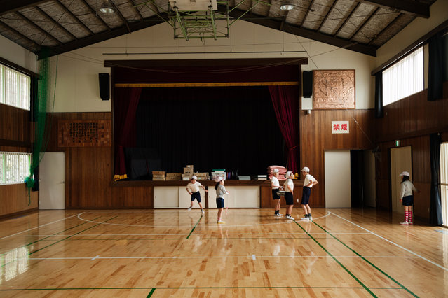 The school manages to have sports days, even though there aren't enough players to form a complete soccer team. (Photo by Ko Sasaki/The Washington Post)