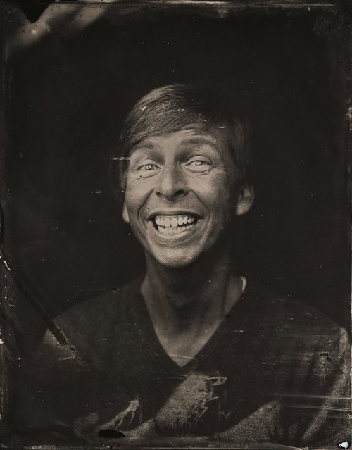 Jack McBrayer poses for a tintype (wet collodion) portrait at The Collective and Gibson Lounge Powered by CEG, during the 2014 Sundance Film Festival in Park City, Utah. (Photo by Victoria Will/AP Photo/Invision)