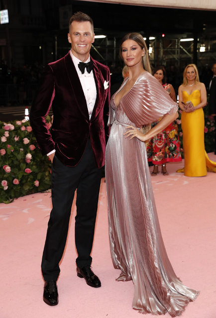 "Gisele Bundchen and Tom Brady attend the 2019 Met Gala celebrating ""Camp: Notes on Fashion"" at the Metropolitan Museum of Art on May 06, 2019 in New York City. (Photo by Andrew Kelly/Reuters)"