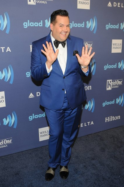 TV personality Ross Mathews attends the VIP Red Carpet Suite hosted by Ketel One Vodka at the 26th Annual GLAAD Media Awards in New York on May 9, 2015 in New York City. (Photo by Brad Barket/Getty Images for Ketel One)