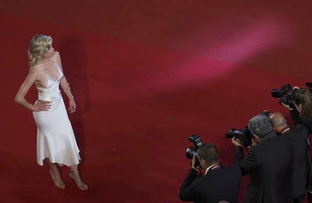 "French actress and singer Cecile Cassel poses on the red carpet as she arrives for the screening of the film ""Mon roi"" in competition at the 68th Cannes Film Festival in Cannes, southern France, May 17, 2015. (Photo by Yves Herman/Reuters)"