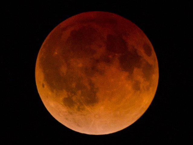 A total lunar eclipse was visible from North and South America, but sky watchers in northern and and eastern Europe, eastern Africa, the Middle East and Central Asia were out of luck, according to US space agency NASA. (Photo by Hector Guerrero/AFP Photo)