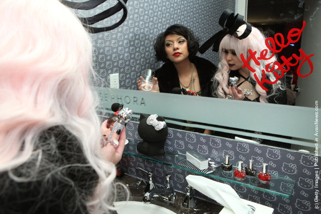 Arianna Valladares and Julie Doll attend The First Ever Hello Kitty Beauty Hotel Suite presented by Sephora