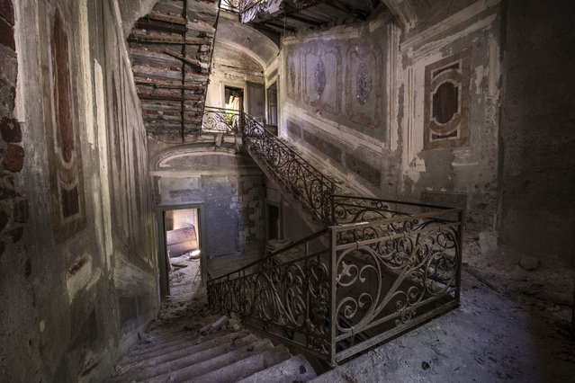 Abandoned Villa. (Photo by Gaz Mather/Cater News)