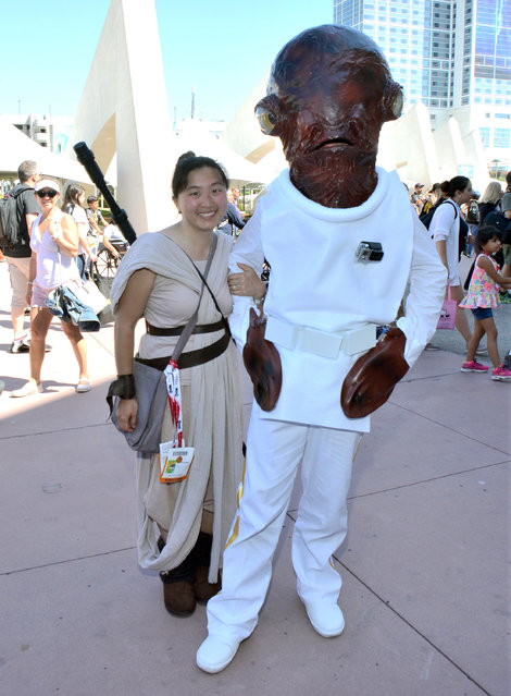 "Fans dress as ""Star Wars"" characters at day 1 of Comic-Con International on Thursday, July 9, 2015, in San Diego, Calif. (Photo by Tonya Wise/Invision/AP Photo)"