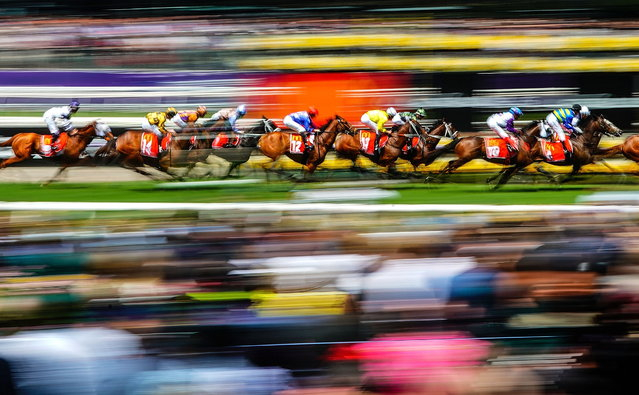 A general view of race 4, The Macca's Run, during the Melbourne Cup Day at Flemington Racecourse in Melbourne, Victoria, Australia, 05 November 2019. (Photo by Scott Barbour/EPA/EFE)