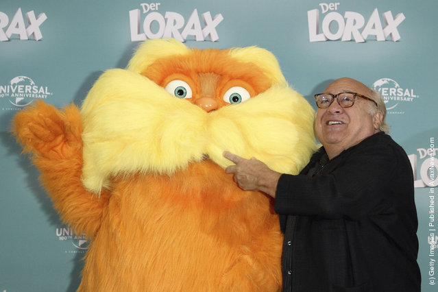 Actor Danny DeVito attends the 'Dr. Seuss' The Lorax' (Der Lorax) Germany Photocall at Ritz Carlton