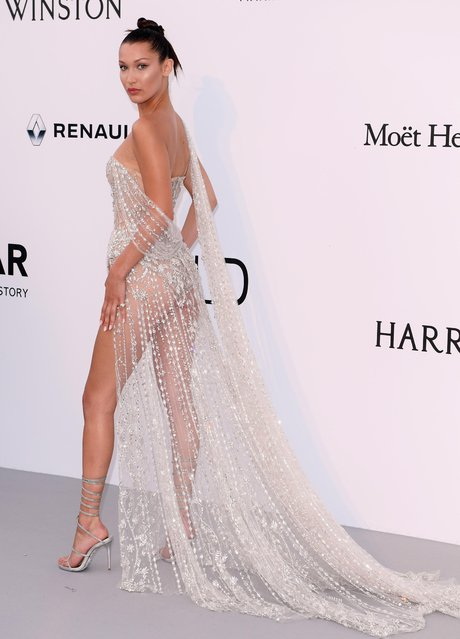 Bella Hadid arrives at the amfAR Gala Cannes 2017 at Hotel du Cap-Eden-Roc on May 25, 2017 in Cap d'Antibes, France. (Photo by David Fisher/Rex Features/Shutterstock)