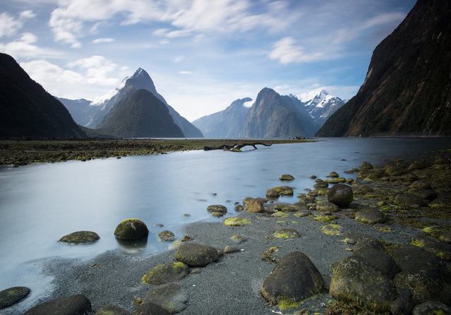 """""""Kiwi Sound"""". This was taken at Milford Sound in New Zealand. I would say my jaw dropped at just about every place I visited in the country. This photo pretty much sums up my time in the country and makes you appreciate what the earth has to offer. Photo location: Milford Sound, New Zealand. (Photo and caption by Walter Chang/National Geographic Photo Contest)"""