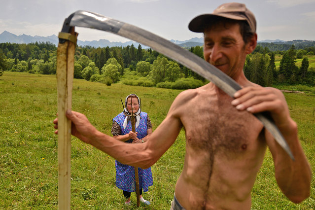 Merit: Highlanders. Traditional haymaking in Poland. Many people continue to use the scythe and pitchfork to sort the hay. (Photo and caption by Bartłomiej Jurecki/National Geographic Traveler Photo Contest)