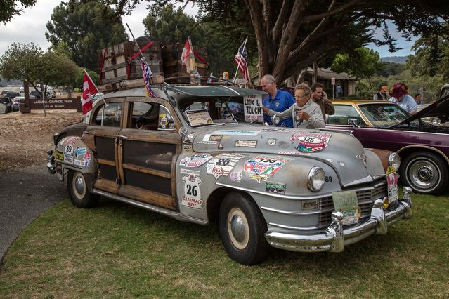 Sometimes decoration helps make a car stand out, although the '47 Chrysler would have been noticeable bare. (Photo by Robert Kerian/Yahoo Autos)
