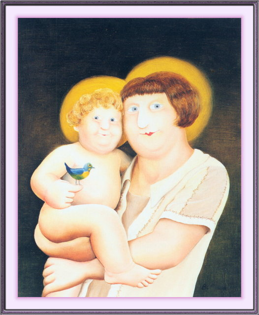 Virgin and Child. Artwork by Beryl Cook