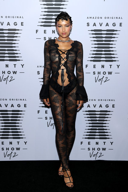 In this image released on October 1, Ciarda Hall attends Rihanna's Savage X Fenty Show Vol. 2 presented by Amazon Prime Video at the Los Angeles Convention Center in Los Angeles, California; and broadcast on October 2, 2020. (Photo by Jerritt Clark/Getty Images for Savage X Fenty Show Vol. 2 Presented by Amazon Prime Video)