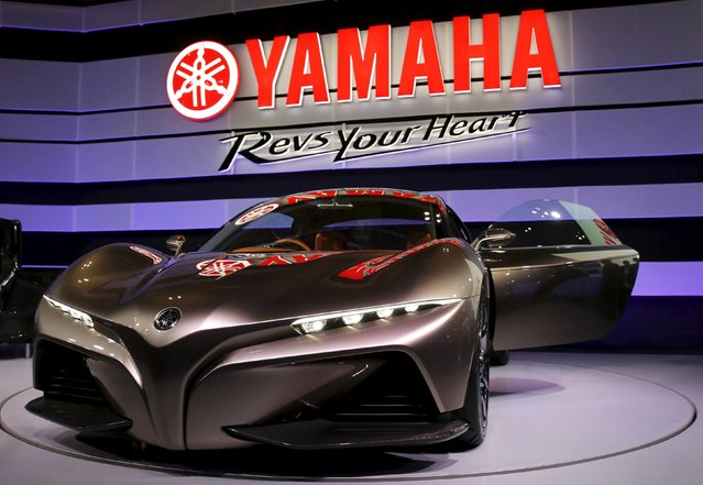 Yamaha Motor Co Ltd's Sports Ride Concept vehicle is on display at the 44th Tokyo Motor Show in Tokyo, Japan, October 28, 2015. (Photo by Toru Hanai/Reuters)