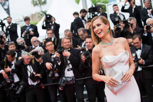 "Model Petra Nemcova poses for photographers upon arrival at the premiere of the film ""Sorry Angel"" at the 71st international film festival, Cannes, southern France, Thursday, May 10, 2018. (Photo by Arthur Mola/Invision/AP Photo)"