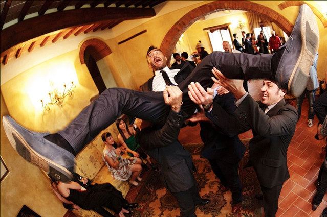 Groom and Ushers – 1st place – The Decisive moment. Las Palmas de Gran Canaria, Spain. (Photo by Pedro Cabrera/Caters News)
