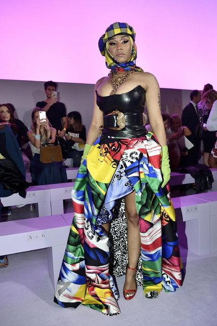 US singer Nicki Minaj before the Versace show during the Milan Fashion Week, in Milan, Italy, 21 September 2018. (Photo by Flavio Lo Scalzo/EPA/EFE)