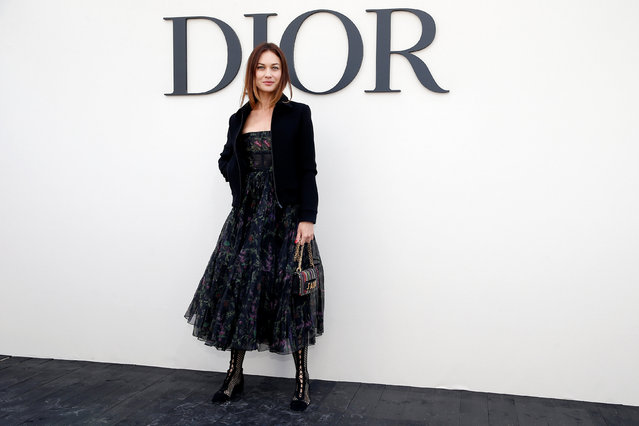 Olga Kurylenko poses during a photocall before the Spring/Summer 2019 women's ready-to-wear collection show for fashion house Dior during Paris Fashion Week in Paris, France, September 24, 2018. (Photo by Stephane Mahe/Reuters)