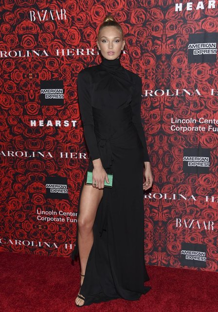 Model Romee Strijd attends the Lincoln Center Corporate Fund Gala honoring Carolina Herrera at Alice Tully Hall on Tuesday, December 6, 2016, in New York. (Photo by Evan Agostini/Invision/AP Photo)