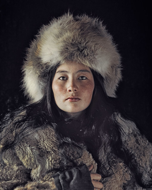 The Kazakhs are the descendants of Turkic, Mongolic and Indo-Iranian tribes and Huns that populated the territory between Siberia and the Black Sea. They are a semi-nomadic people and have roamed the mountains and valleys of western Mongolia with their herds since the 19th century. (Jimmy Nelson)