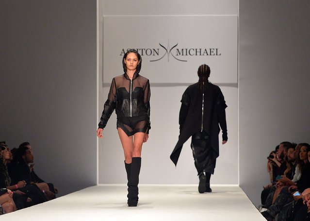 Models walk the runway at the Ashton Michael Fall 2015 Fashion Show on March 20, 2015 in Los Angeles, California. (Photo by Charley Gallay/Getty Images for Ashton Michael)