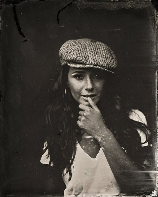 Emmanuelle Chriqui  poses for a tintype (wet collodion) portrait at The Collective and Gibson Lounge Powered by CEG, during the 2014 Sundance Film Festival in Park City, Utah. (Photo by Victoria Will/AP Photo/Invision)