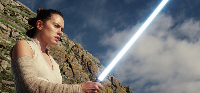 "This image released by Lucasfilm shows Daisy Ridley as Rey in ""Star Wars: The Last Jedi"". The Skywalker saga may be coming to an end December 2019 as the latest Star Wars trilogy finishes, but 8 months out from its release fans still know precious little about what director J.J. Abrams and Lucasfilm president Kathleen Kennedy have in store for ""Episode IX"", which opens nationwide on Dec. 20. (Photo by Lucasfilm via AP Photo)"