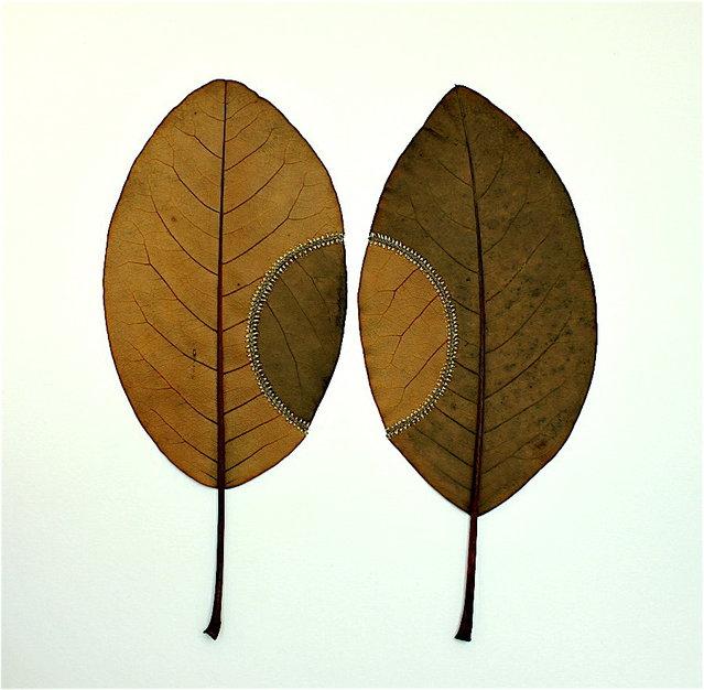 Crocheted Leaf Art By Susanna Bauer