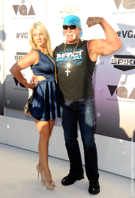 Pro wrestler Hulk Hogan (R) and guest arrive at Spike TV's 2011 Video Game Awards at Sony Studios