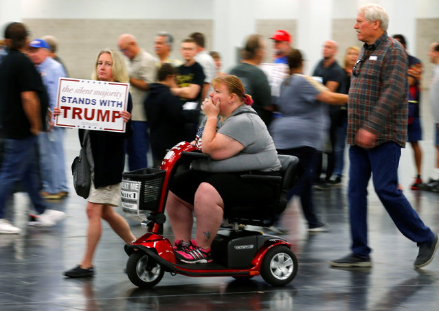 Supporters of Republican U.S. Presidential candidate Donald Trump arrive before Trump speaks at a campaign event in Anaheim, California U.S. May 25, 2016. (Photo by Mike Blake/Reuters)