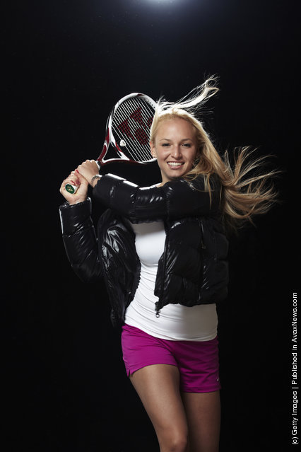 Donna Vekic of Croatia poses during a portrait session held on February 9, 2012 in London