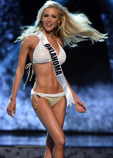 Miss Oklahoma USA Taylor Gorton competes in the swimsuit competition during the 2016 Miss USA pageant preliminary competition at T-Mobile Arena on June 1, 2016 in Las Vegas, Nevada. (Photo by Ethan Miller/Getty Images)