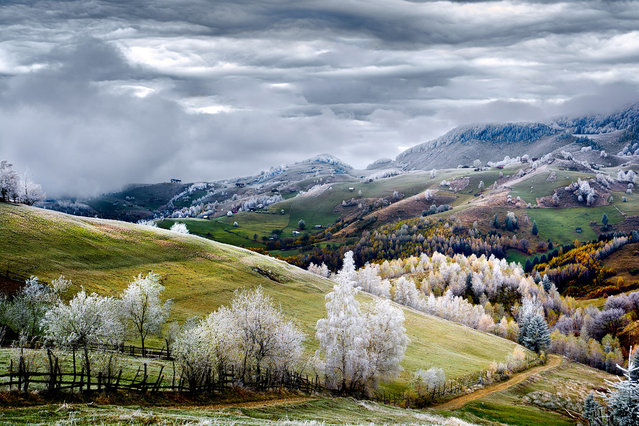 Merit: Romania, Land of Fairy Tales. Whitefrost over Pestera village in Romania. (Photo and caption by Eduard Gutescu/National Geographic Traveler Photo Contest)