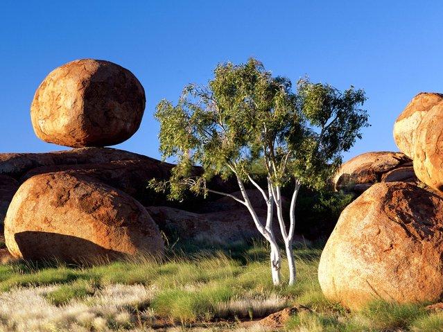 Balancing Boulder, Northern Territory Australia