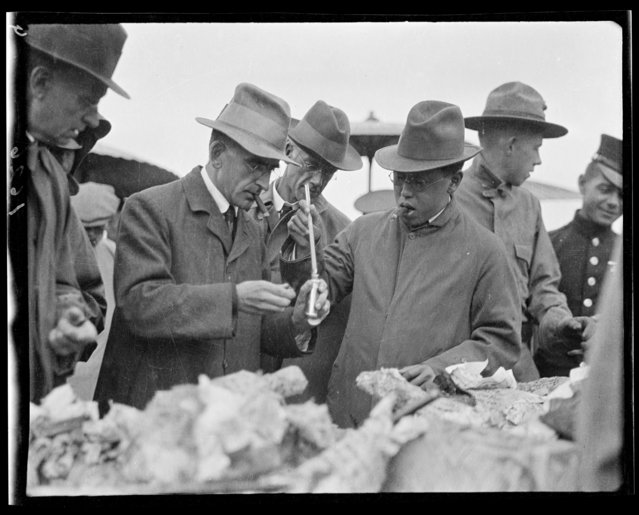 Anti-Opium Inspectors. China, Beijing, 1917-1919. (Photo by Sidney David Gamble)
