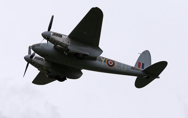 Havilland Mosquito KA 114 takes flight for the first time since 1945 following its restoration. The restoration was completed at Warbird Restorations at Ardmore Aerodrome. Thursday September 27, 2012 in Ardmore, New Zealand.  (Photo by Simon Watts)