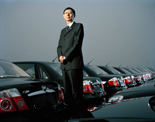 Yin Ming Shan (70). President and Founder of Lifan Holdings, Car and Bike Factory, Chongqing. (Photo by Mathias Braschler and Monika Fischer)