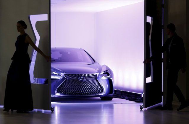 Lexus's concept car LF-FC is revealed during a presentation at the 44th Tokyo Motor Show in Tokyo, Japan, October 28, 2015. (Photo by Yuya Shino/Reuters)