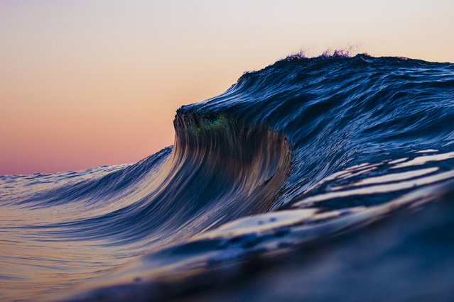 """""""I also love that every wave is completely different, though you might be out at the same location"""". (Photo by Ryan Pernoski/Caters News Agency)"""