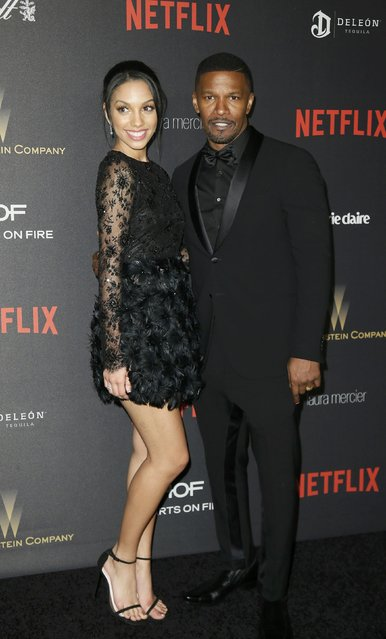 Actor Jamie Foxx and daughter, Corrine Foxx, arrive at The Weinstein Company & Netflix Golden Globe After Party in Beverly Hills, California January 10, 2016. (Photo by Danny Moloshok/Reuters)