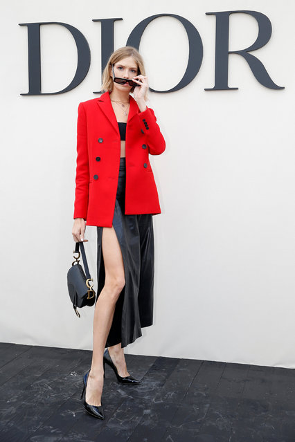 Elena Perminova poses during a photocall before the Spring/Summer 2019 women's ready-to-wear collection show for fashion house Dior during Paris Fashion Week in Paris, France, September 24, 2018. (Photo by Stephane Mahe/Reuters)
