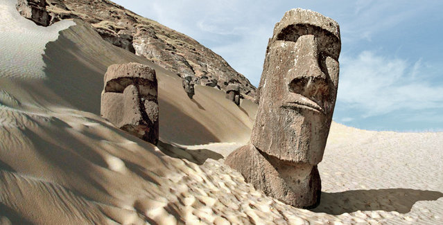 Easter Island, Polynesia, after severe drought. (Photo by Joel Krebs/Caters News)