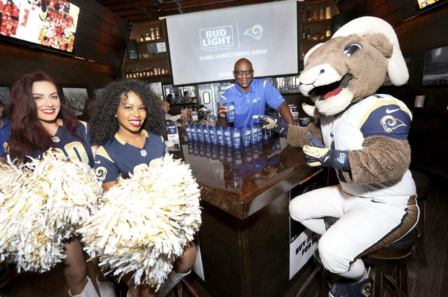 Bud Light Launches Limited-Edition Rams Homecoming Brew with Eric Dickerson on Thurs., November 3, 2016, in Los Angeles. #RamsBrew (Photo by Casey Rodgers/Invision for Bud Light/AP Images)