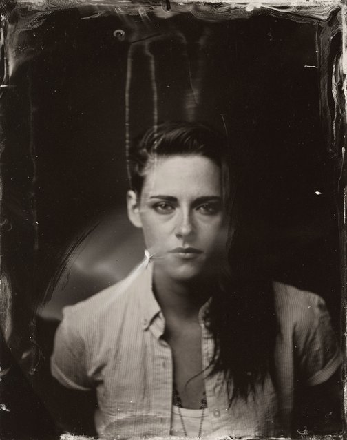 Kristen Stewart poses for a tintype (wet collodion) portrait at The Collective and Gibson Lounge Powered by CEG, during the 2014 Sundance Film Festival in Park City, Utah. (Photo by Victoria Will/AP Photo/Invision)