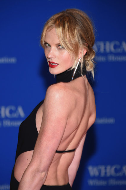 Model Anne V attends the 102nd White House Correspondents' Association Dinner on April 30, 2016 in Washington, DC. (Photo by Larry Busacca/Getty Images)