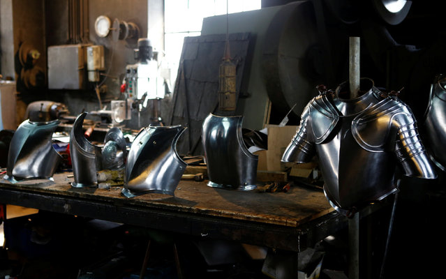 Suits of armour for the Vatican's Swiss Guards are pictured at a workshop in Molln, Austria, March 29, 2017. (Photo by Leonhard Foeger/Reuters)